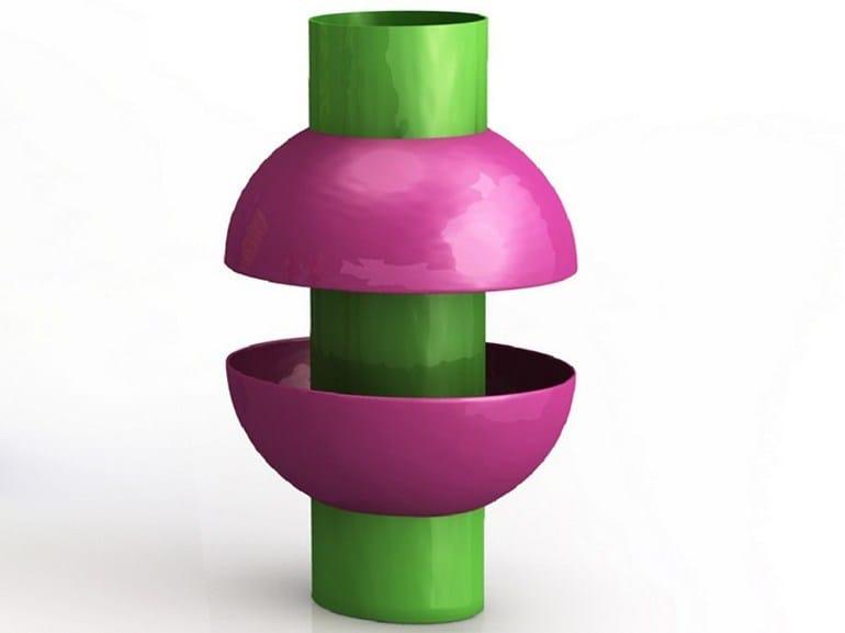 Aluminium vase LA COUPOLE by altreforme