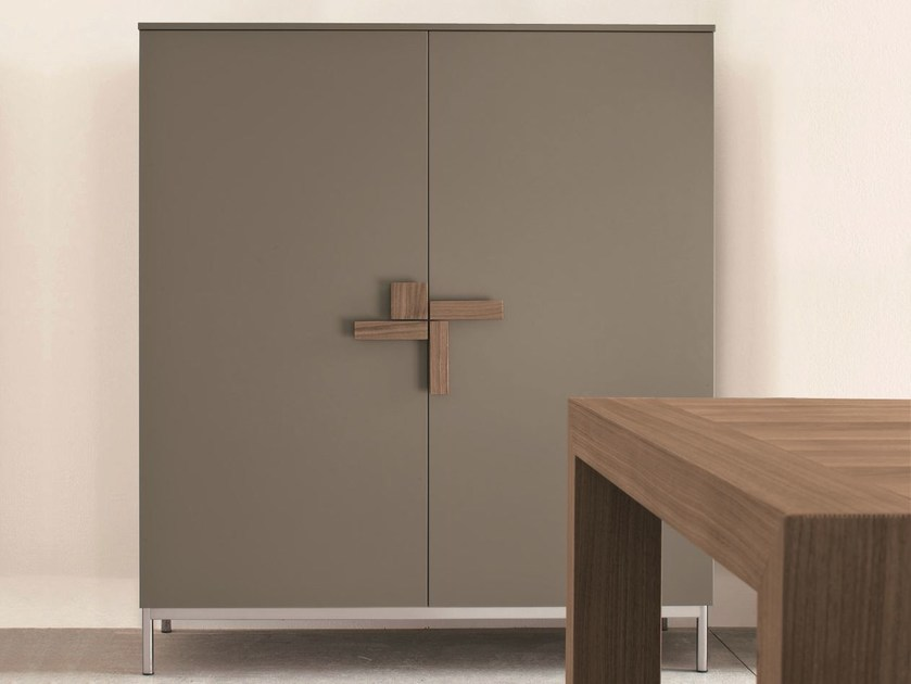 Lacquered highboard with doors SLIM | Highboard by Dall'Agnese