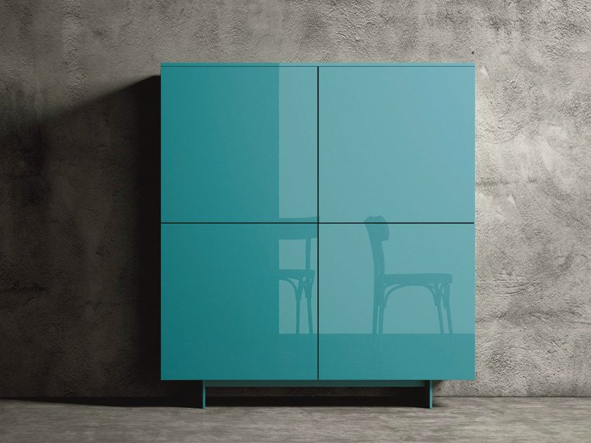 Lacquered highboard CUBE 4 by Dall'Agnese