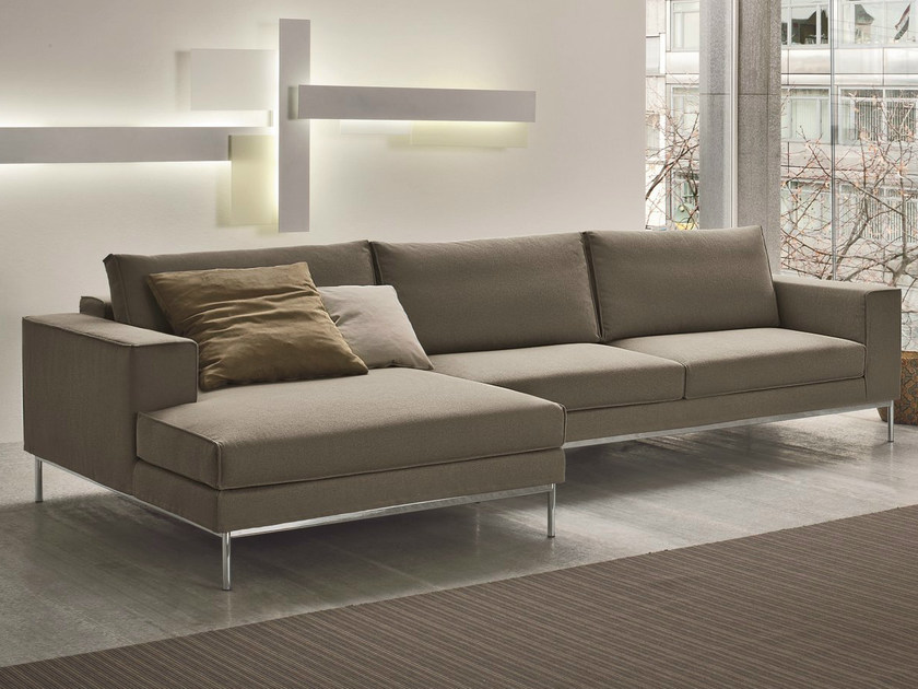 Sectional 3 seater fabric sofa with removable cover FLY | Sectional sofa by Dall'Agnese