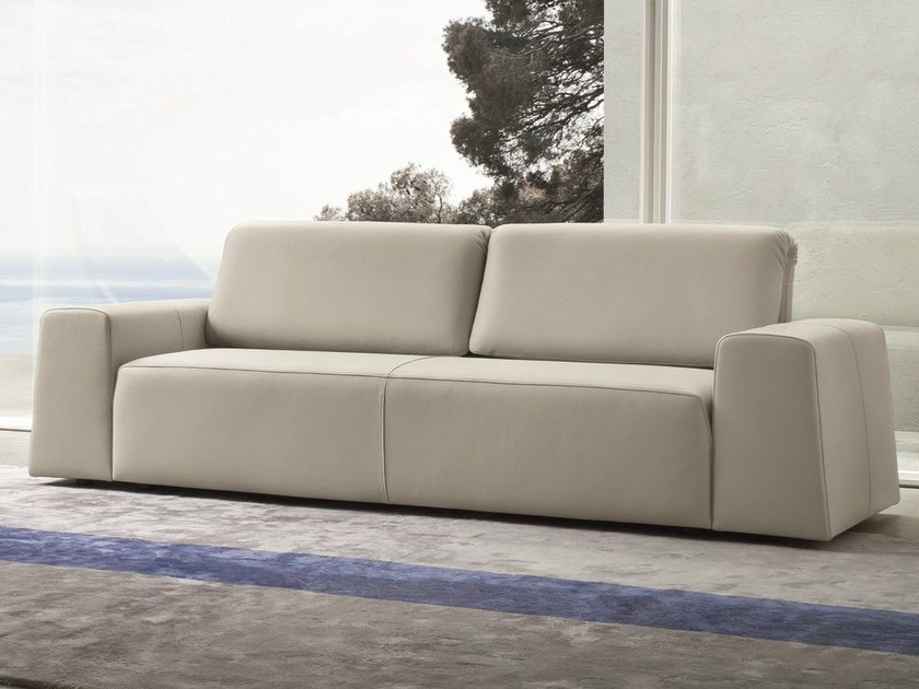 Convertible leather sofa PLIA | Convertible sofa by Dall'Agnese