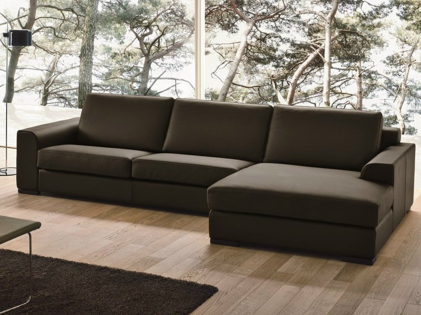3 seater leather sofa CITY by Dall'Agnese