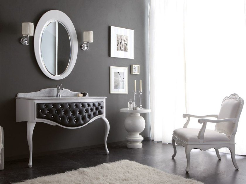 Tufted Console Sink With Drawers GLAM 04 By LEGNOBAGNO
