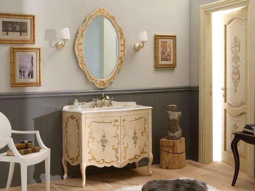 Wooden vanity unit with doors NARCISO DECORATO by LEGNOBAGNO