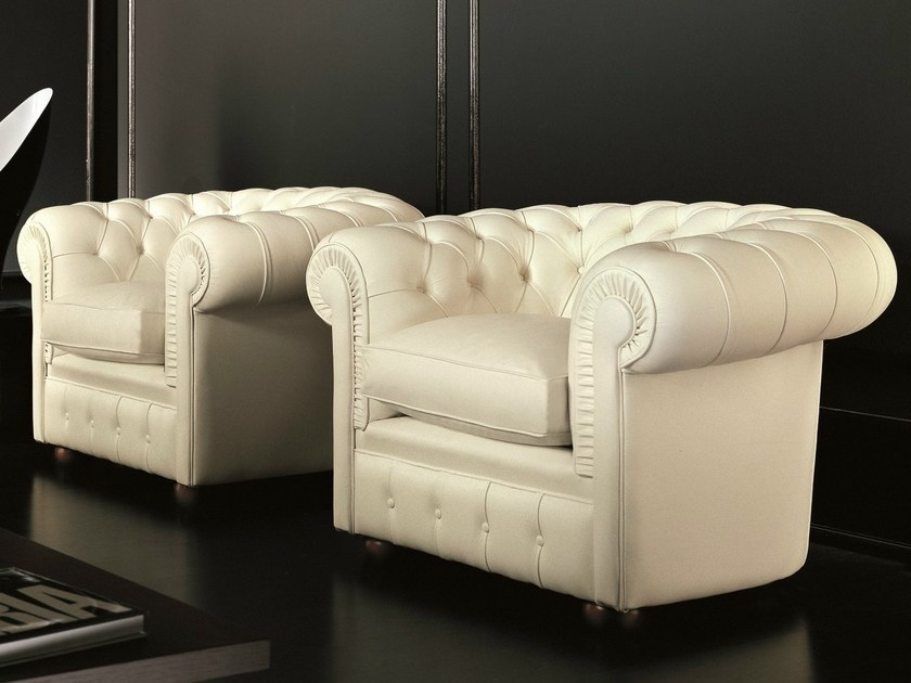Chesterfield style leather armchair CLASS | Chesterfield style armchair by Dall'Agnese