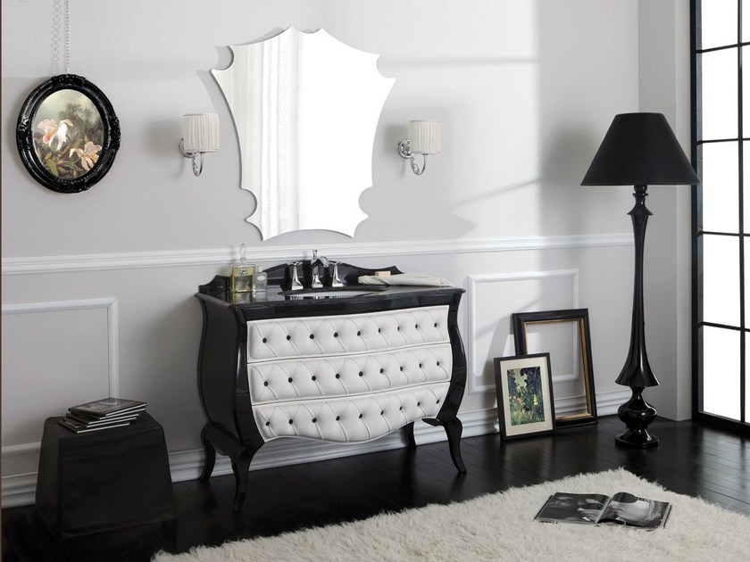 Tufted vanity unit with drawers VINTAGE 01 by LEGNOBAGNO