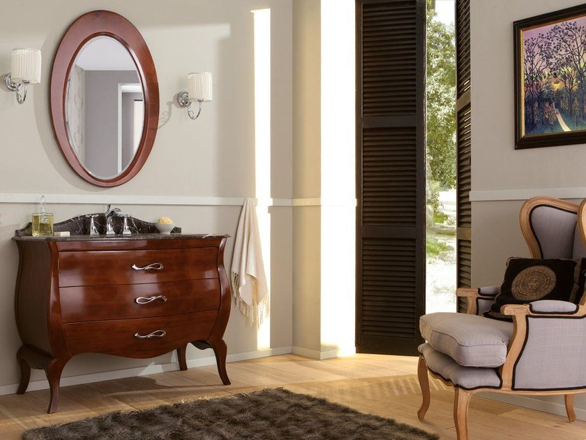Lacquered vanity unit with drawers VINTAGE 04 by LEGNOBAGNO