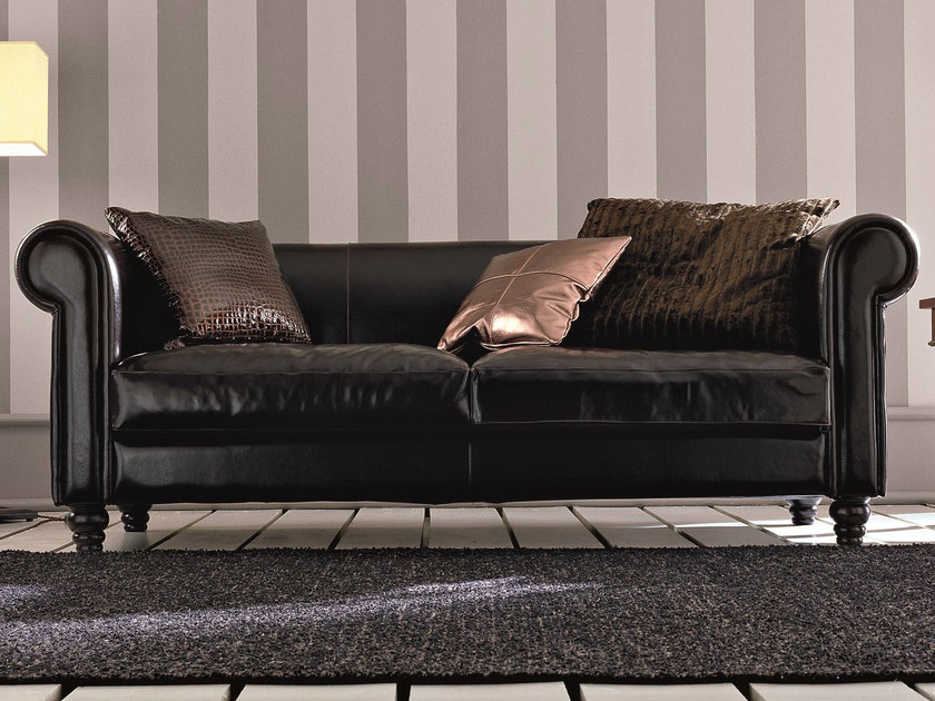 Deco 3 seater leather sofa DECÒ | 3 seater sofa by Dall'Agnese