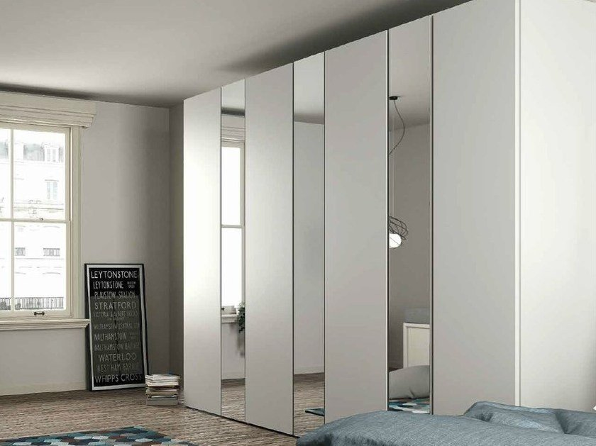 Lacquered mirrored wardrobe EMOTION 8 by Dall'Agnese