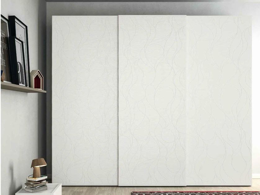 Lacquered oak wardrobe with sliding doors EMOTION SCORREVOLE 16 by Dall'Agnese