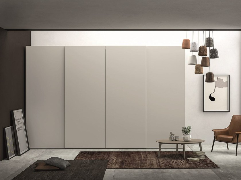 Lacquered oak wardrobe with sliding doors EMOTION SCORREVOLE 1 by Dall'Agnese