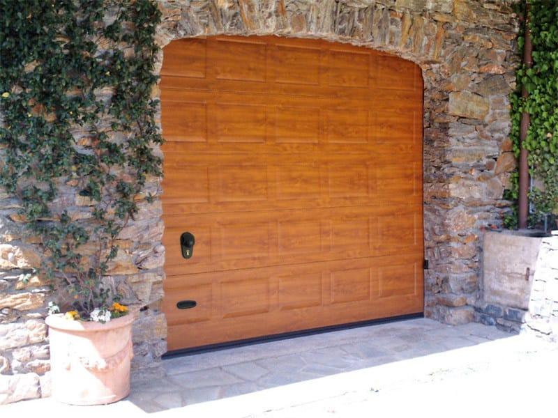 Galvanized steel sectional door VNS RL42   Garage door by Bremet