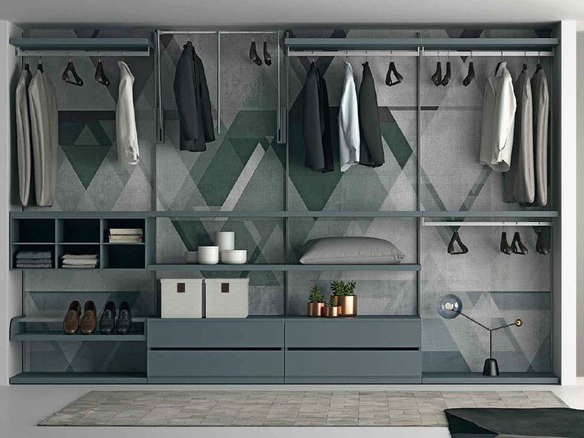 Sectional walk-in wardrobe EASY PROJECT by Dall'Agnese