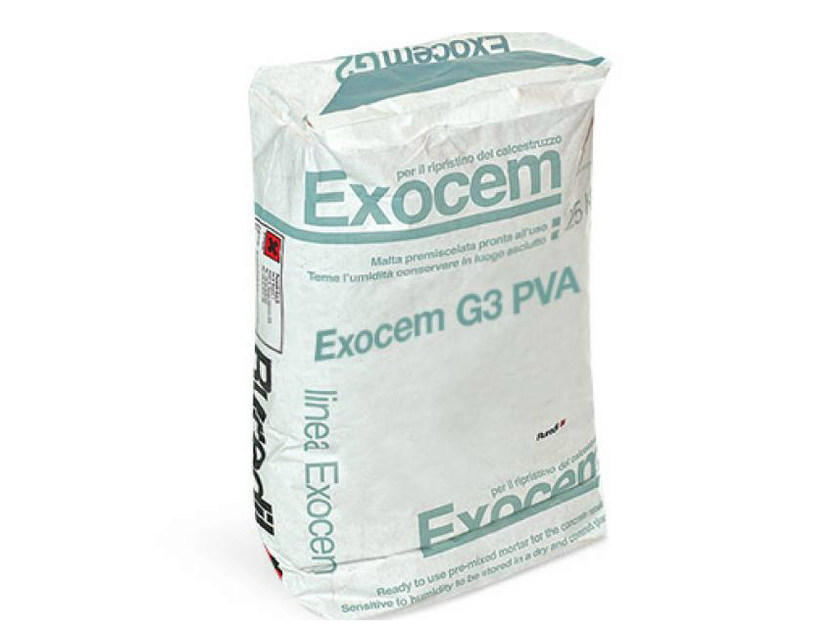 Mortar and grout for renovation EXOCEM G3 PVA by RUREDIL