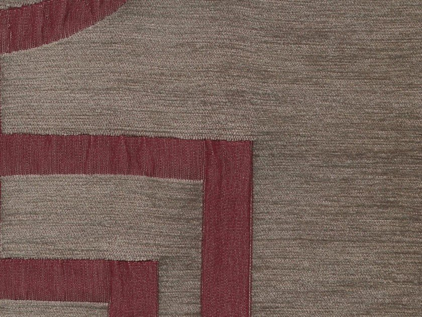 Viscose and cotton fabric with graphic pattern VELVET SQUARE by KOHRO