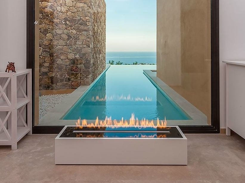 Built-in fireplace controlled by Wi-Fi and remote control FIRE LINE AUTOMATIC 3 by Planika