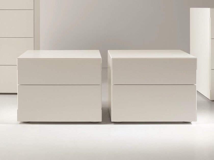 Lacquered bedside table with drawers BLADE | Bedside table by Dall'Agnese
