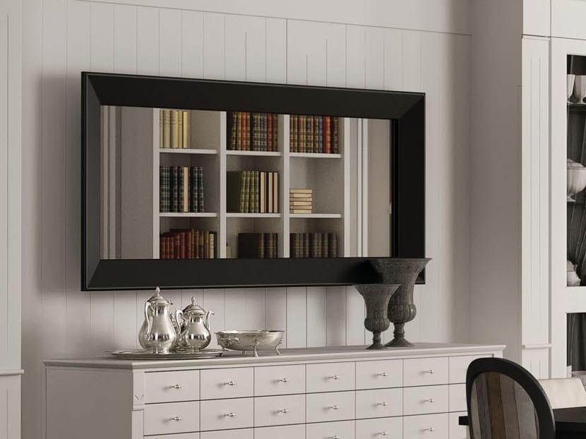 Rectangular framed mirror WALLCOT | Wall-mounted mirror by Minacciolo
