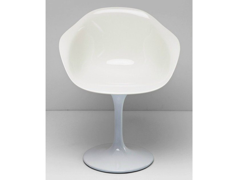 Lacquered plastic chair with armrests FORUM TRUMPET by KARE-DESIGN