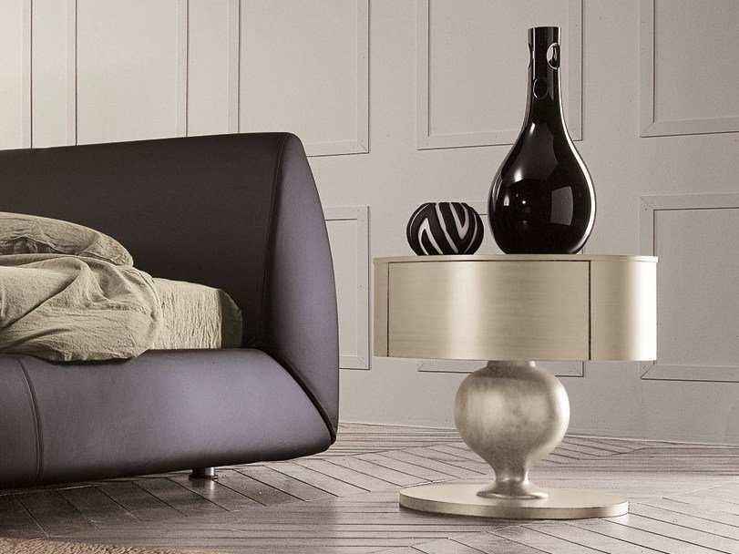 Classic style lacquered bedside table with drawers CHRISTAL   Classic style bedside table by Dall'Agnese