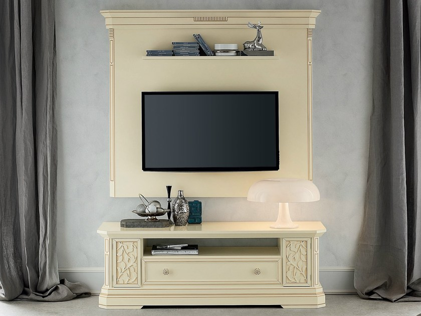 Low lacquered TV cabinet TIFFANY | Lacquered TV cabinet by Dall'Agnese