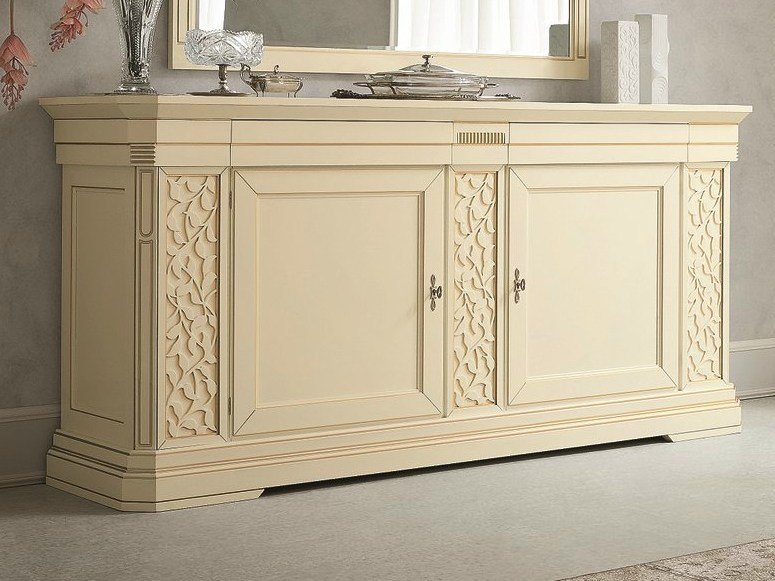 Lacquered sideboard with doors TIFFANY | Lacquered sideboard by Dall'Agnese