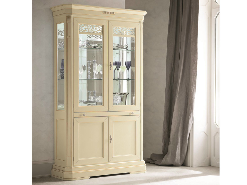 Lacquered display cabinet TIFFANY   Lacquered display cabinet by Dall'Agnese