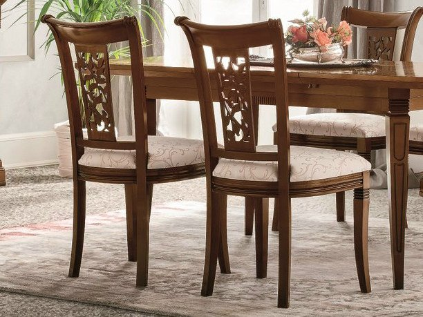 Upholstered walnut chair TIFFANY | Walnut chair by Dall'Agnese