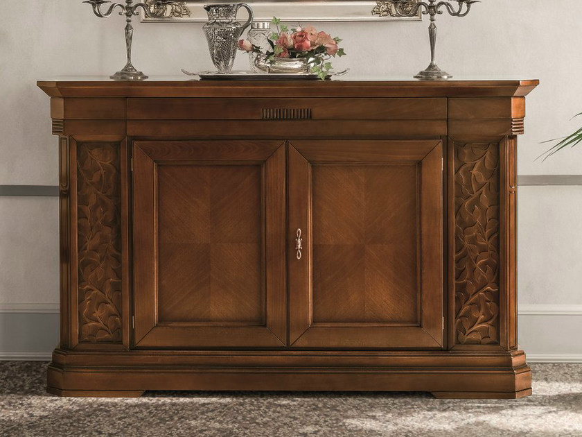 Walnut sideboard with doors TIFFANY | Walnut sideboard by Dall'Agnese