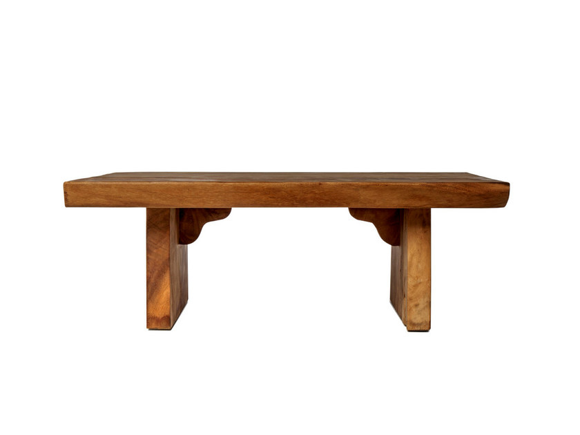 Rectangular solid wood garden side table SUAR | Coffee table by Il Giardino di Legno