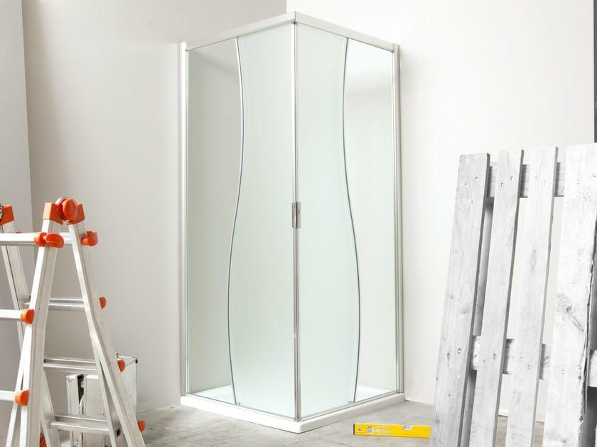 Corner glass shower cabin MANOLIBERA | Corner shower cabin by MEGIUS