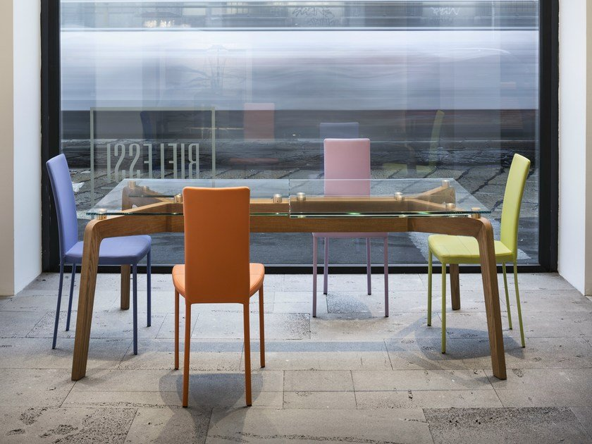 Extending rectangular dining table GLIDE by RIFLESSI