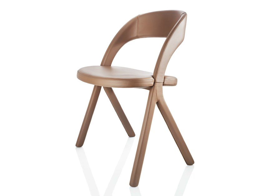 Upholstered leather chair GESTO | Leather chair by ALMA DESIGN