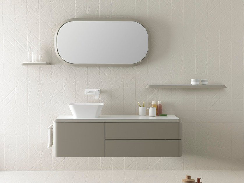 Single wall-mounted vanity unit FLUENT | Vanity unit by INBANI