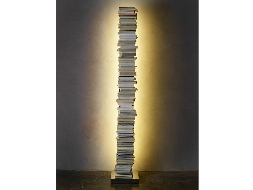 Freestanding bookcase with built-in lights PTOLOMEO LUCE by Opinion Ciatti