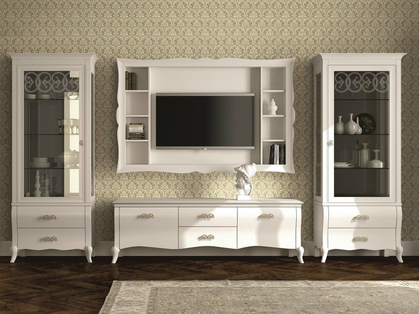 Sectional lacquered storage wall SYMFONIA   Lacquered storage wall by Dall'Agnese