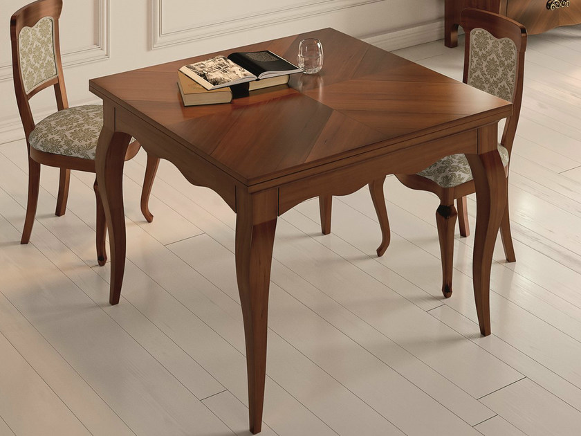 Square walnut table SYMFONIA | Walnut table by Dall'Agnese