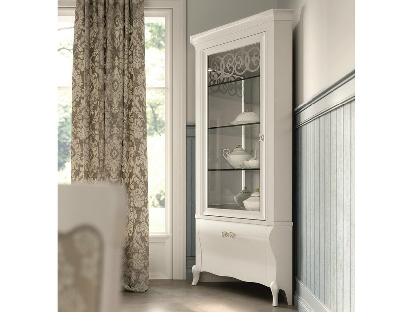 Lacquered corner display cabinet SYMFONIA | Corner display cabinet by Dall'Agnese
