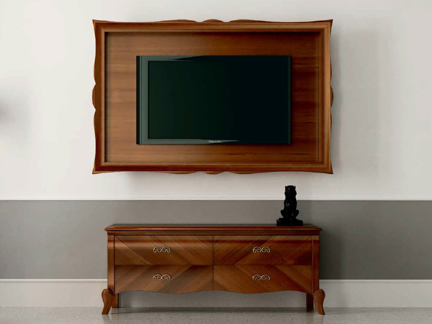Modular lacquered walnut TV cabinet SYMFONIA | Walnut TV cabinet by Dall'Agnese