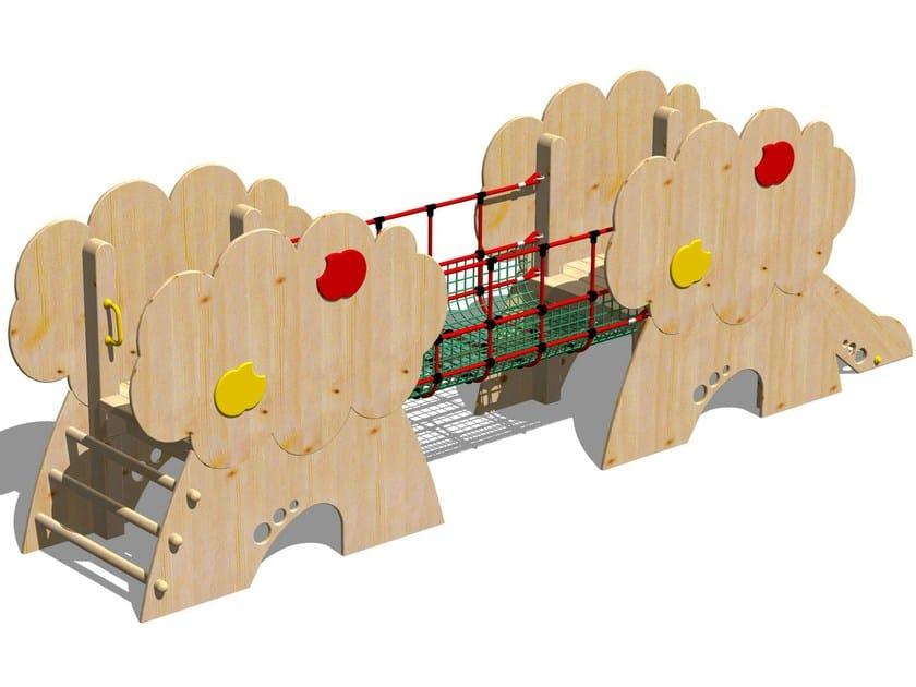 Wooden Play structure CASTELLO MELO by Legnolandia