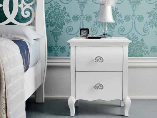 Lacquered bedside table with drawers SYMFONIA | Lacquered bedside table by Dall'Agnese