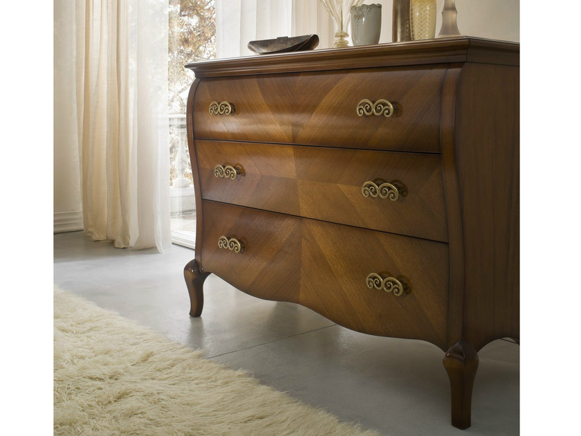 Walnut chest of drawers SYMFONIA | Walnut chest of drawers by Dall'Agnese