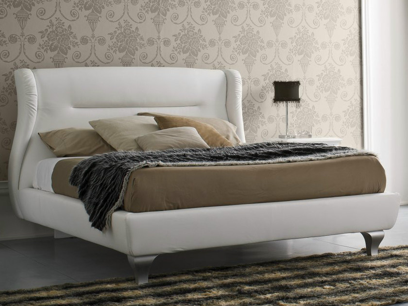 Upholstered fabric double bed SYMFONIA | Upholstered bed by Dall'Agnese