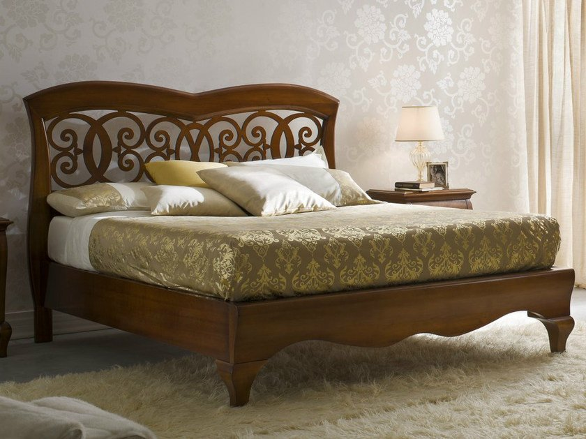 Walnut double bed SYMFONIA | Walnut bed by Dall'Agnese