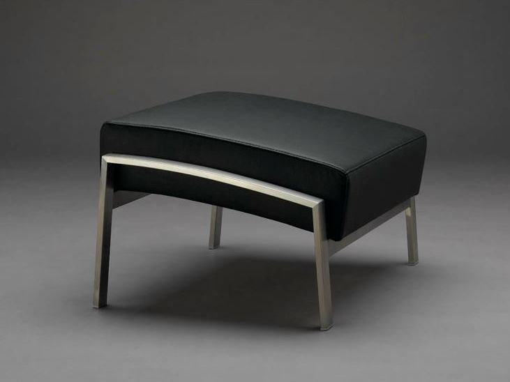 Leather footstool DIDAKT | Footstool by mminterier