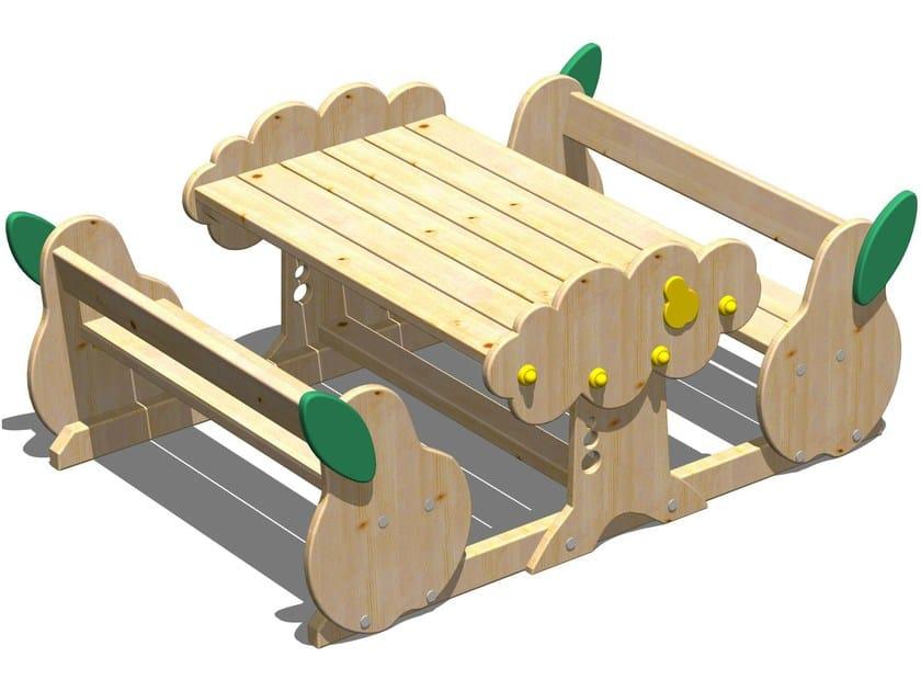Pera tavolo da picnic con panchine integrate by legnolandia - Tavolo pic nic legno ...