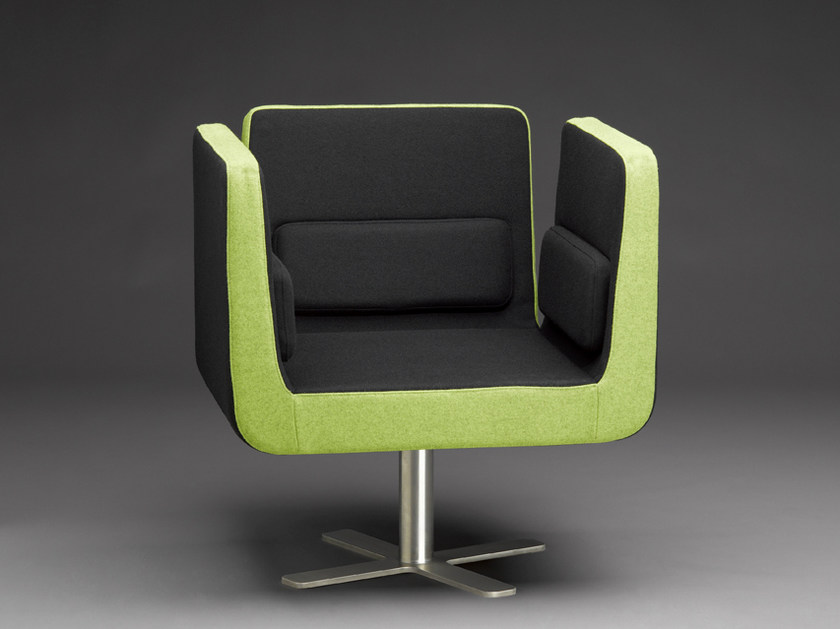Upholstered easy chair with 4-spoke base AMADEO | Easy chair by mminterier
