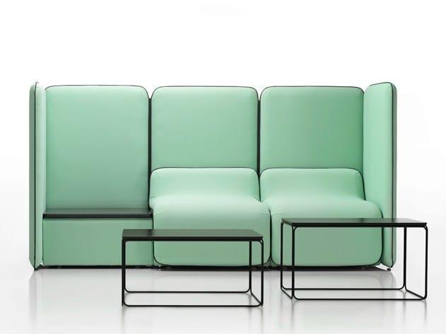 Modular high-back sofa BUNKER   High-back sofa by mminterier