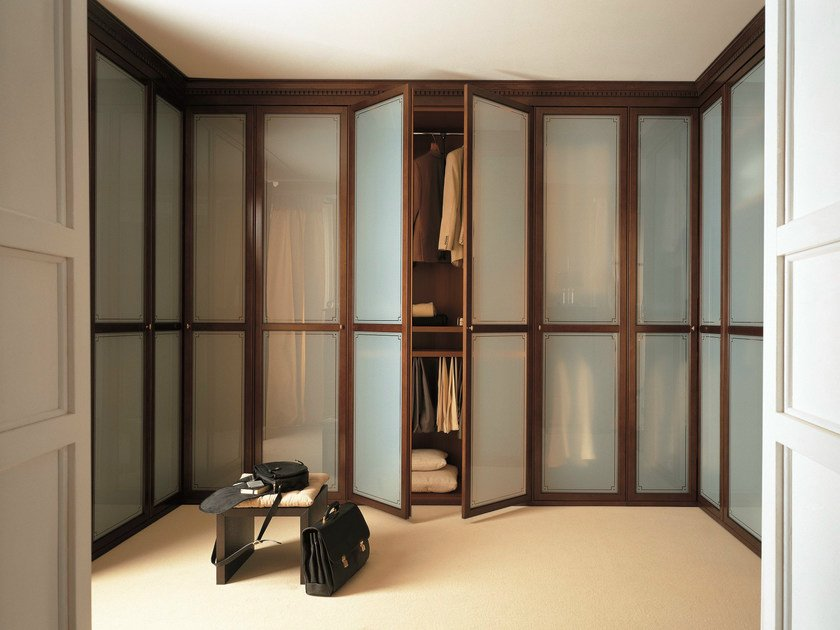 Custom glass walk-in wardrobe UNICO | Glass walk-in wardrobe by Dall'Agnese