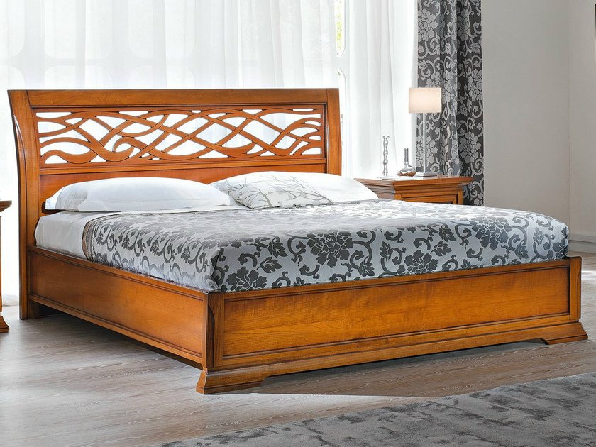 Cherry wood storage bed BOHEMIA | Storage bed by Dall'Agnese